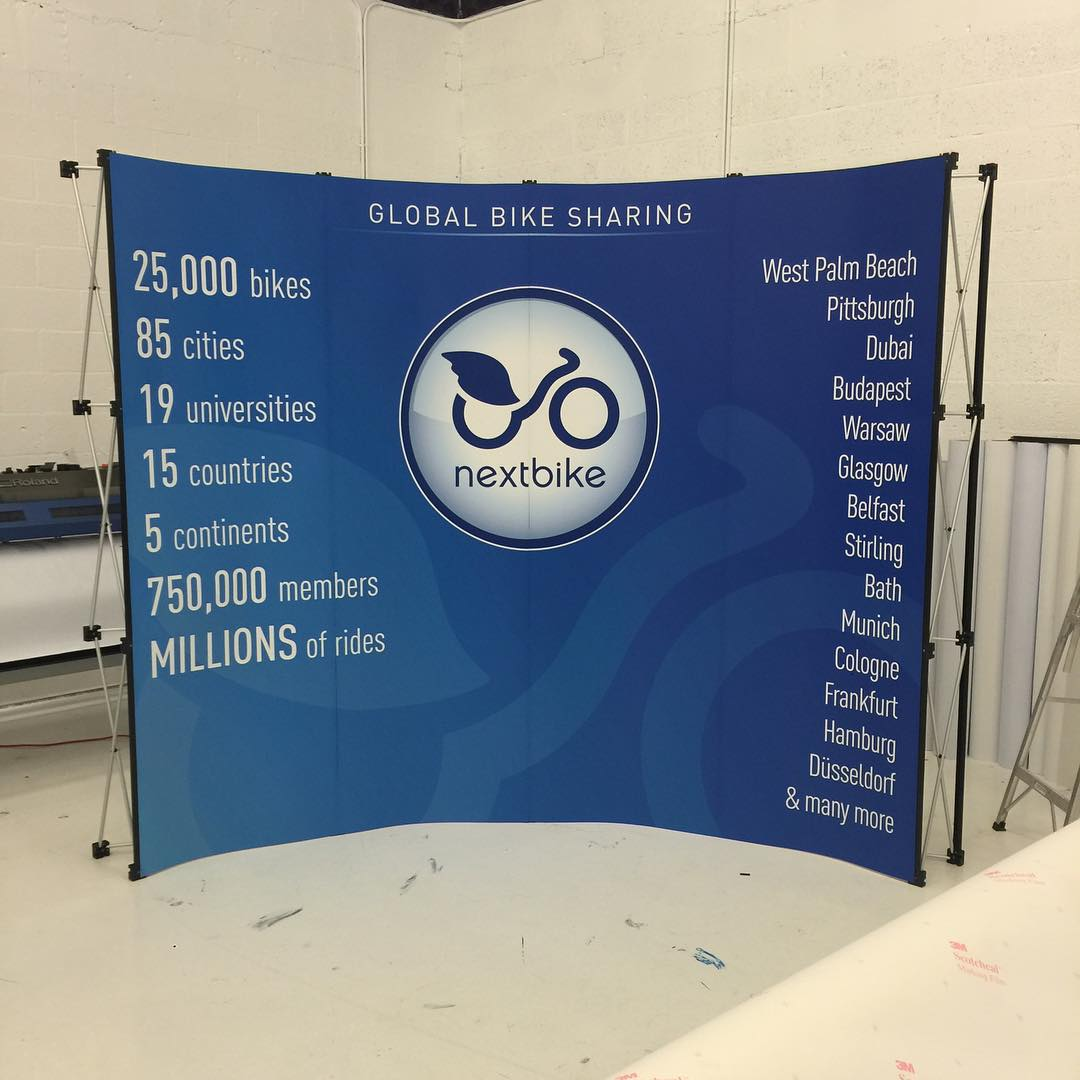 NextBike Trade Show Banner from Binick Imaging