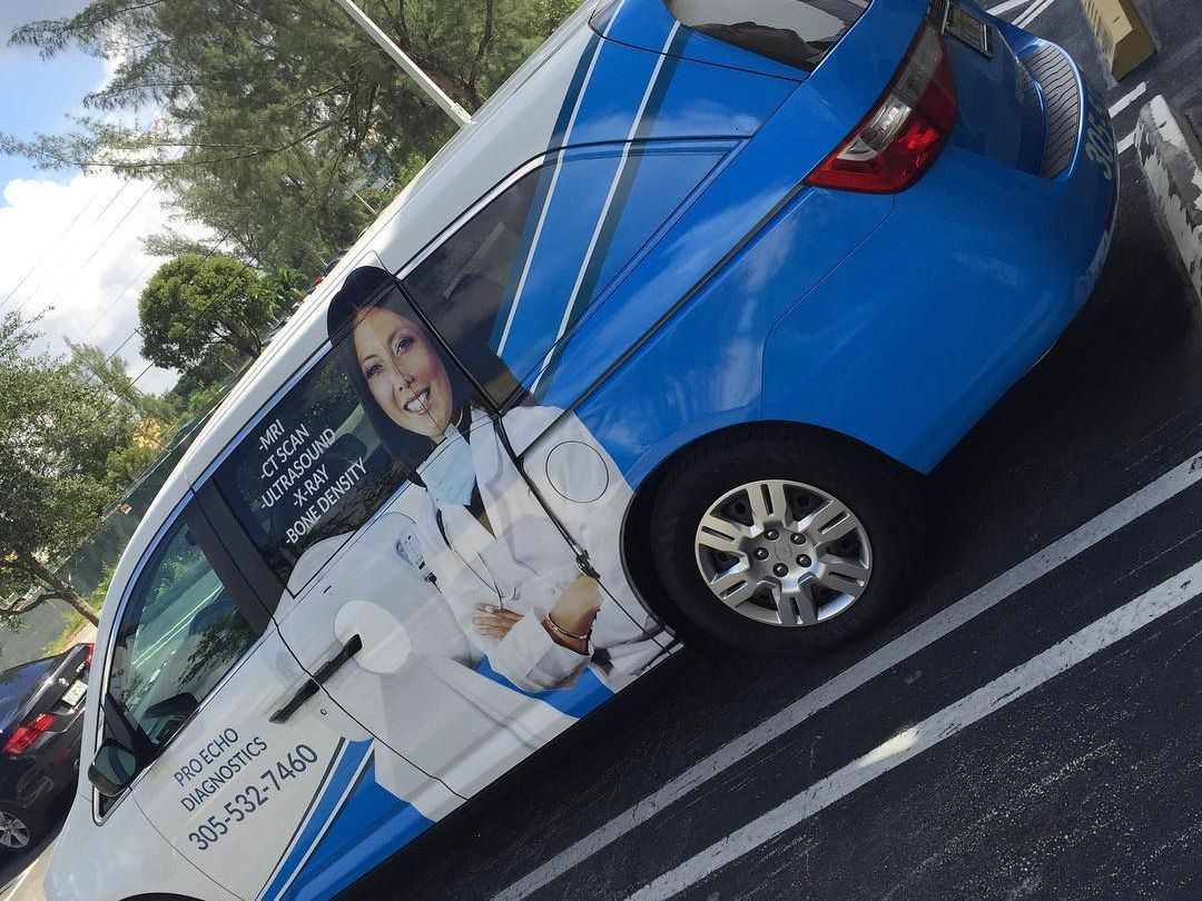 Pro Echo Diagnostics Car Wrap from Binick Imaging