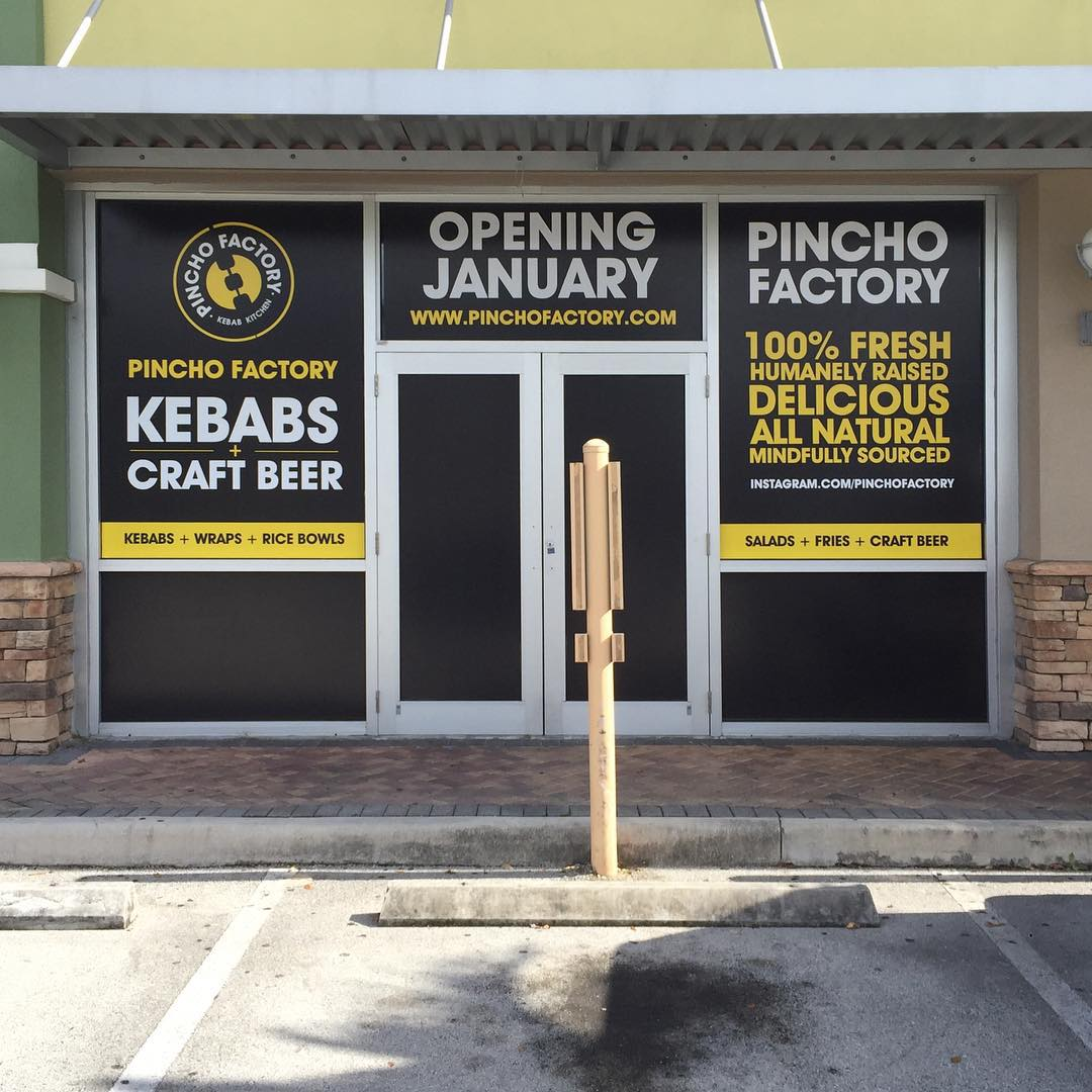 Pincho Factory Window Wraps from Binick Imaging in Miami