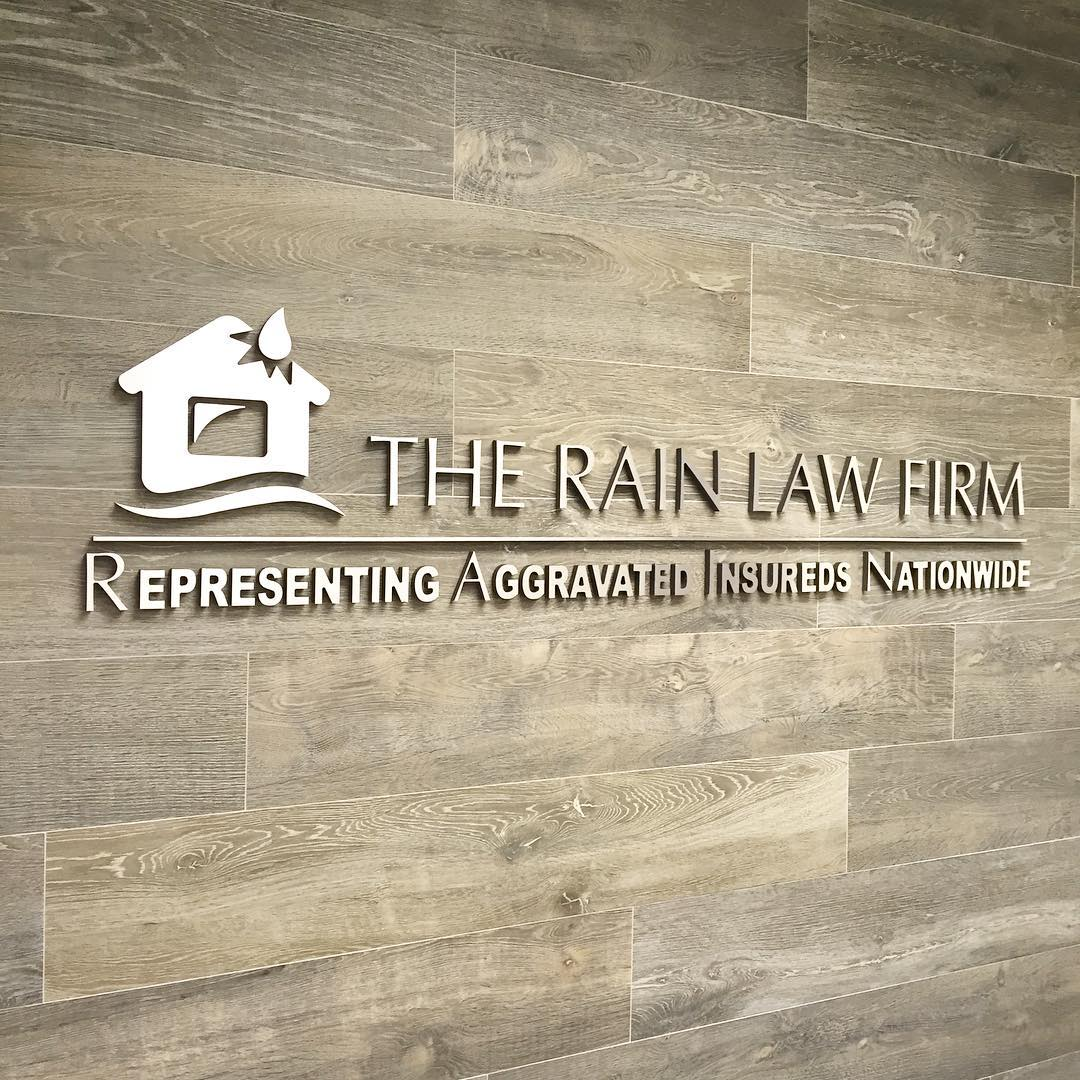 The Rain Law Firm Dimensional Lettering from Binick Imaging