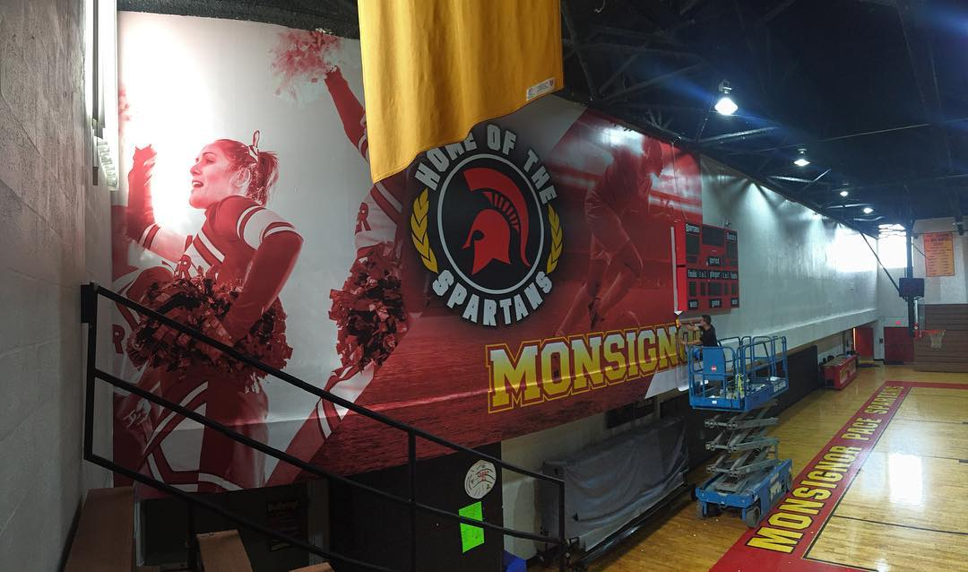 Monsignor Pace High School Spartans Wall Mural from Binick Imaging
