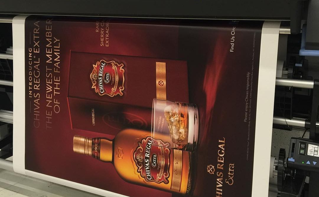 Chivas Regal Extra Billboard Printing from Binick Imaging