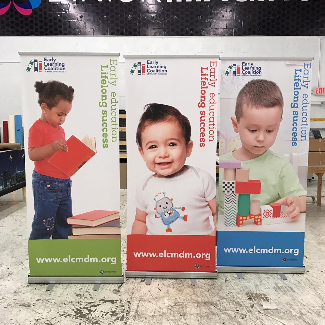 Early Learning Coalition Stand Up Banners from Binick Imaging