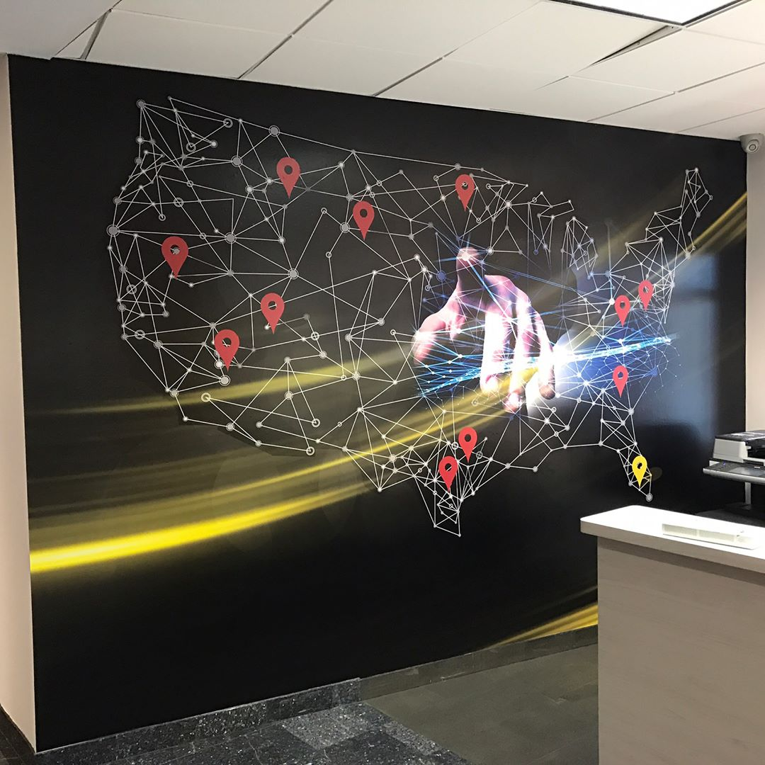 Custom-Designed Wall Mural from Binick Imaging