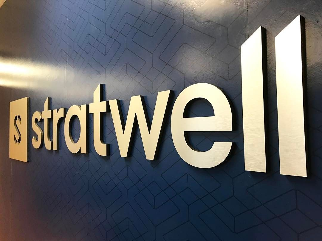 Stratwell Custom Sign from Binick Imaging