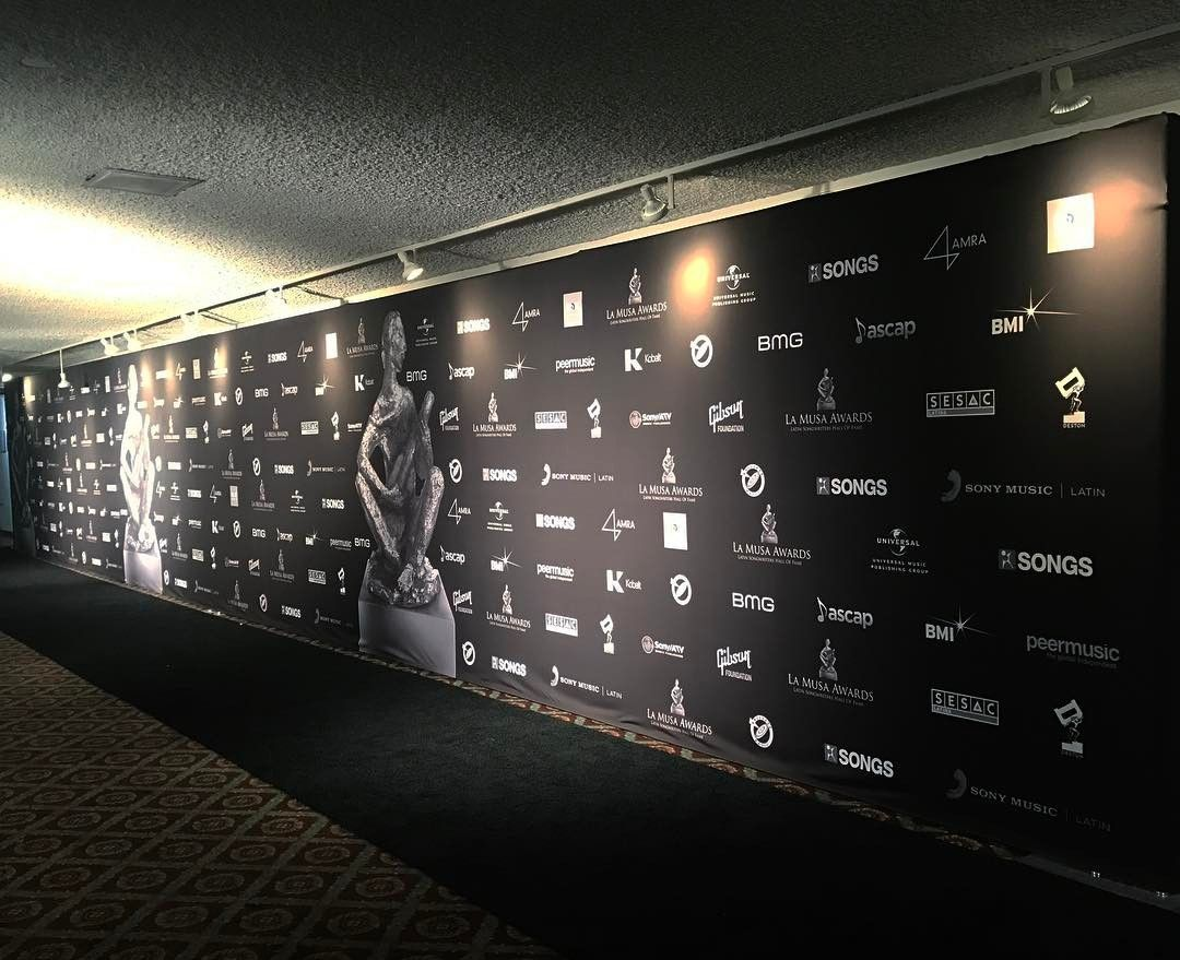Music Awards Step and Repeat Backdrop from Binick Imaging