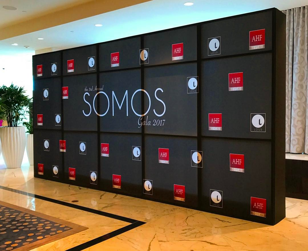 Somos Gala 2017 Step and Repeat Banner from Binick in Miami