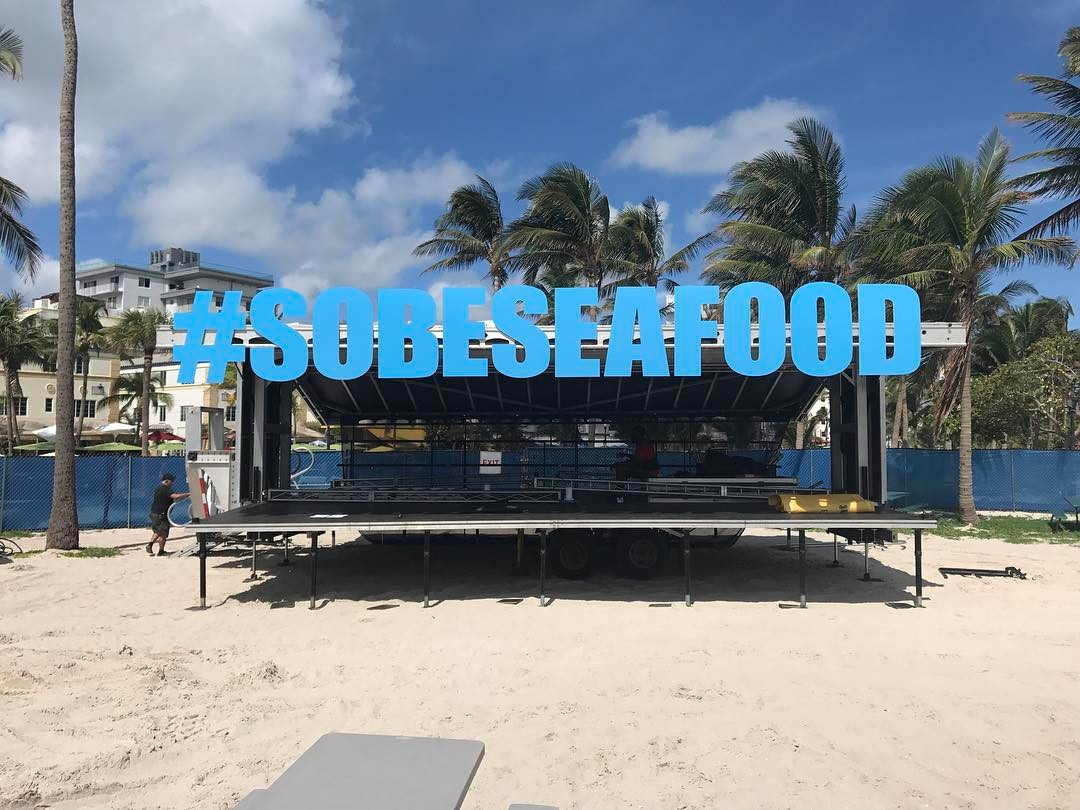 South Beach Seafood Outdoor Letters from Binick in Miami