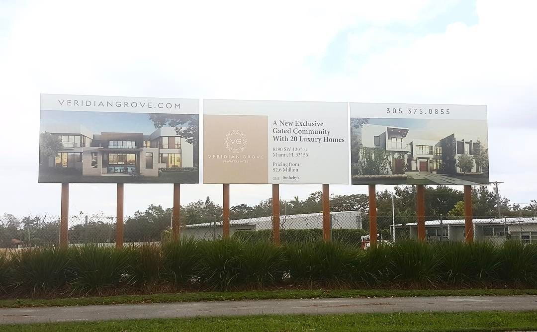 Veridian Grove Outdoor Billboard from Binick Imaging in Miami