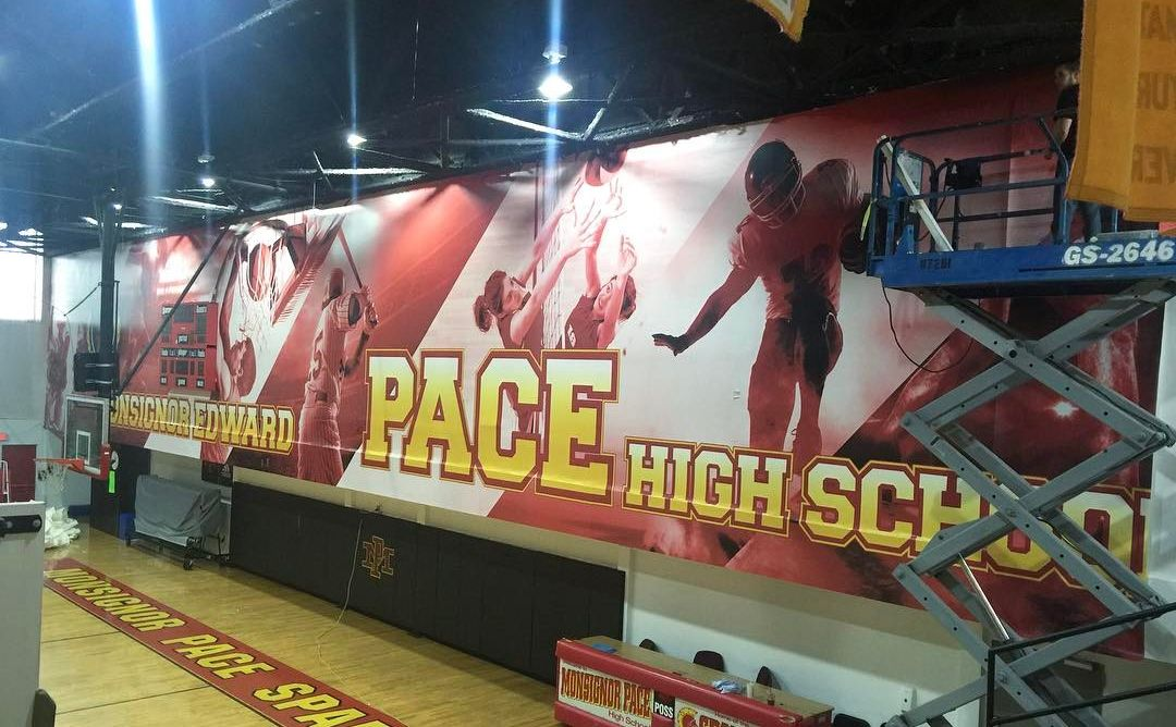 Monsignor Edward Pace High School Wall Billboard from Binick Imaging