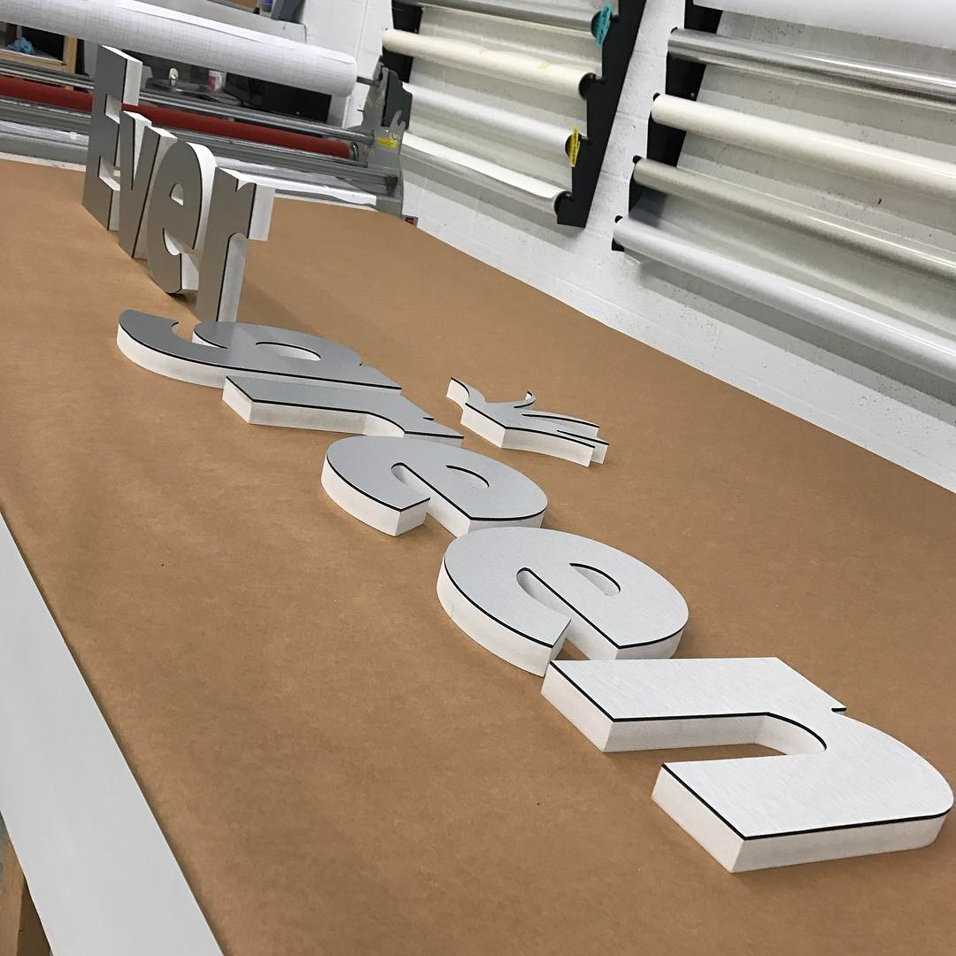 Evergreen Dimensional Letter Design from Binick Imaging in Miami
