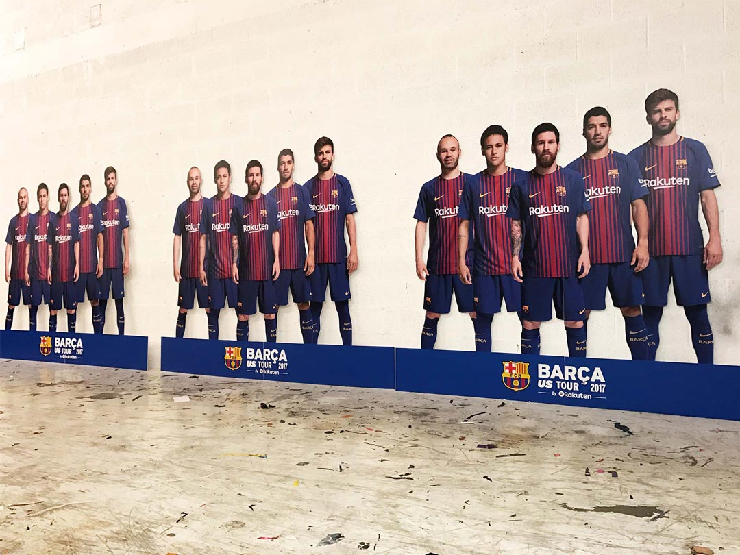 FC Barcelona El Classico Event Graphics from Binick Imaging in Miami