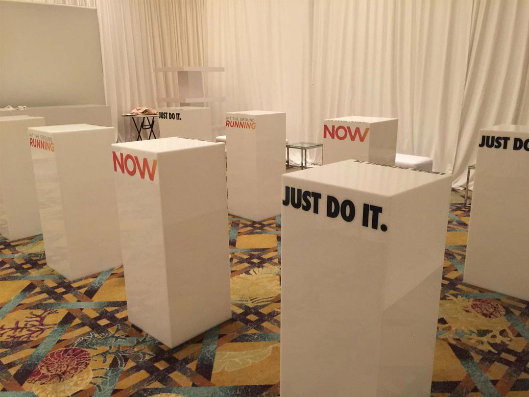 Nike Event Pedestal Graphics from Binick Imaging in Miami