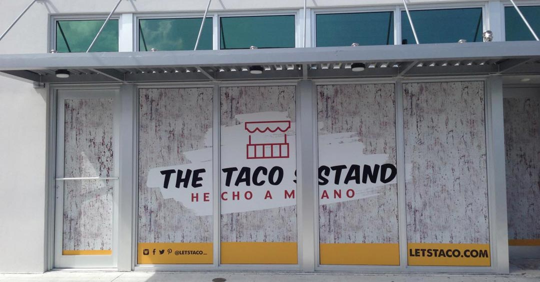 The Taco Stand Window Graphics from Binick Imaging