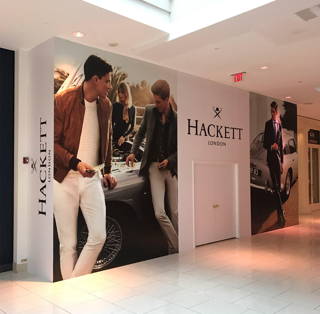 Hackett London Barricade Graphics from Binick Imaging