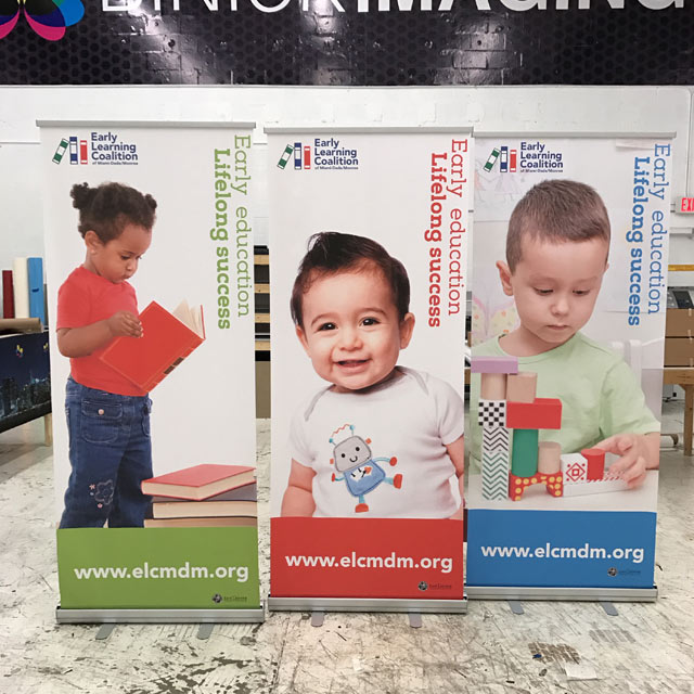 Early Learning Coalition Trade Show Displays from Binick in Miami