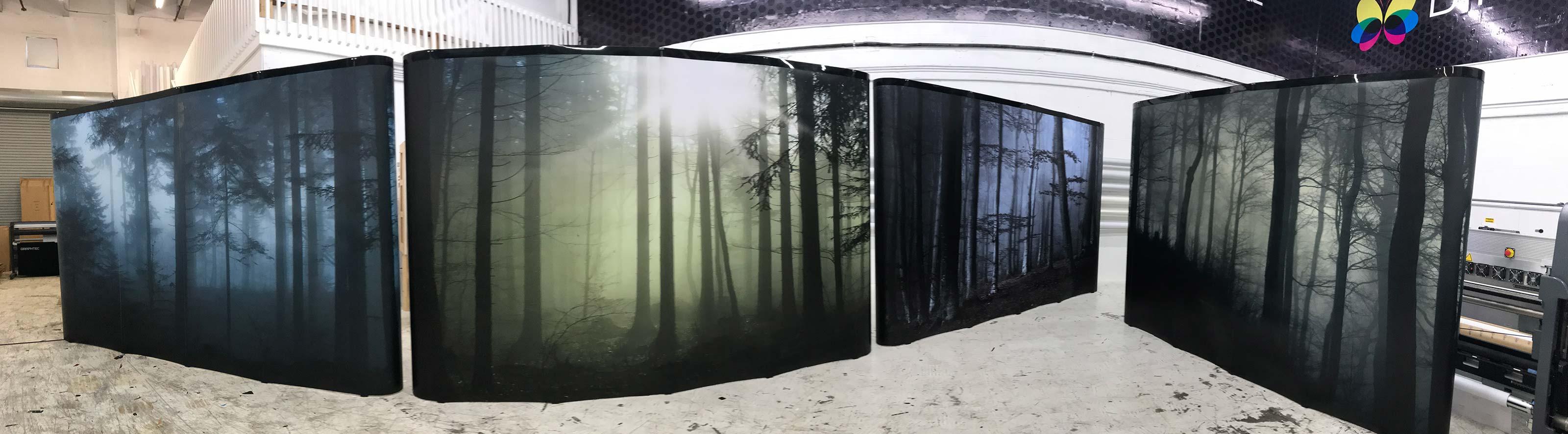 Trade Show Panorama Displays from Binick Imaging