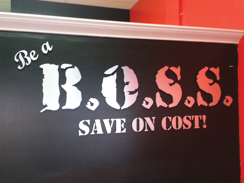 Be a Boss Sign Letters
